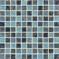 GLSMGICG3 - Ice Crackle Glass Mosaic Mosaic - Blue