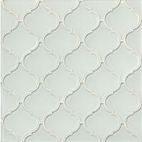 good mallorca glass mosaic white linen with arabesque tile