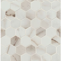TCRCAL221HEXCP - Calacatta Mosaic - Calacatta