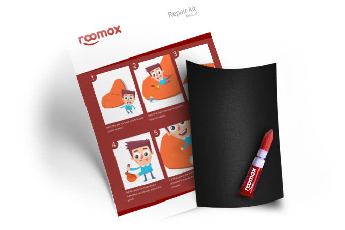 Roomox Beanbag Repairkit-NYL01 - Black