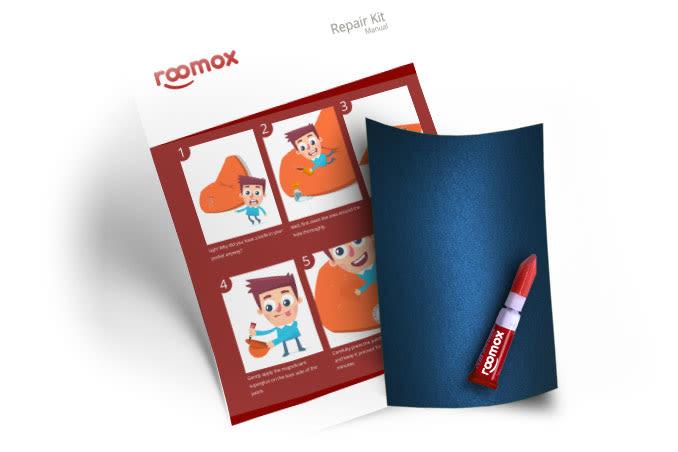 Roomox Beanbag Repairkit-NYL02 - Navy