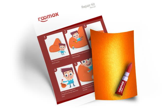 Roomox Beanbag Repairkit-NYL31 - Orange