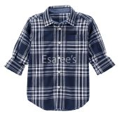 Gymboree Boy Long Sleeve Checked Plaid Shirt Gym Navy