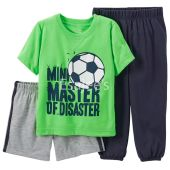 Carters Boys Graphic Pajamas Set 3-Piece