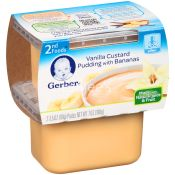 Gerber  Baby Pudding Vanilla Custard Pudding With Bananas