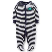 Carters  Boy 1 Piece Striped Footed Fleece Pajamas