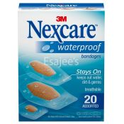 Nexcare Waterproof Bandages Clear Assorted 20 ct