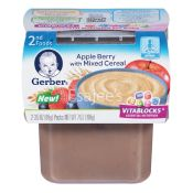 Gerber  Foods Pudding Apple Berry