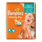 Pampers Simply Dry Baby Diapers Maxi No 4