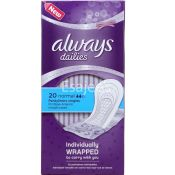 Always Dailies Pantyliners Normal Individually Wrapped