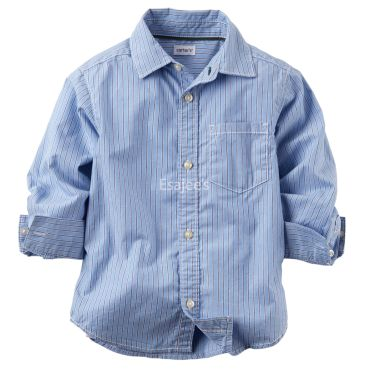Carters  Size 5 Button Front Shirt Stripe