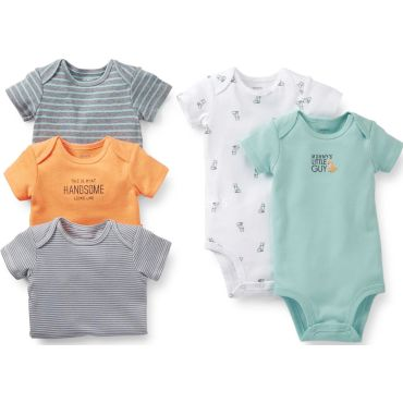 Carters Girls 5-Pack Short-Sleeve Bodysuits