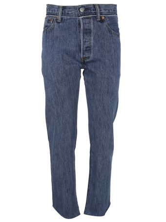 Vetements Reworked Stepped-hem Jeans