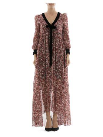 Multicolor Silk Long Dress