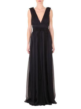 Solid Chiffon Long Dress
