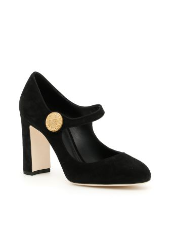 Suede Mary Jane Pumps
