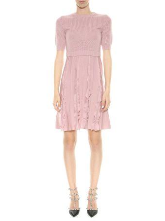 Valentino Short Sleeves Knit Dress