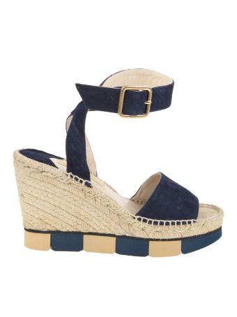 Paloma Barcelo' Sandals Lisette Blue Suede