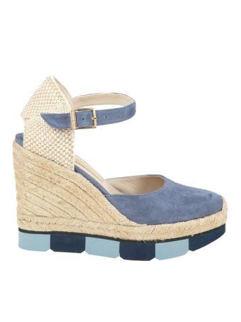 Paloma Barcelo' Espadrilles Marielle Suede Blue Jeans