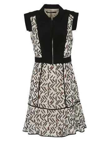 Karl Lagerfeld Geometric Print Dress