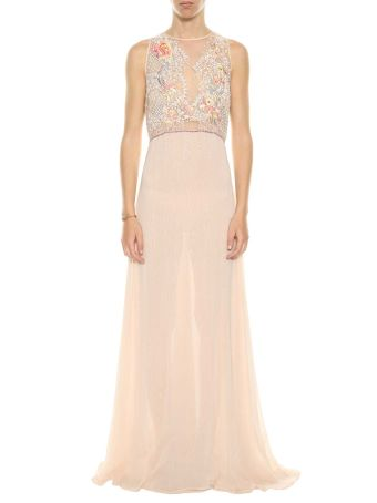 Amen Long Dress With Embroideries