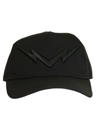 Black Lightning Bolt Baseball Cap
