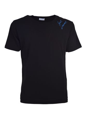Saint Laurent Embroidered Logo T-shirt
