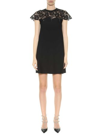 Valentino Knitted Dress With Lace