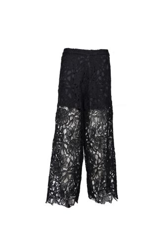 Alice + Olivia Floral Lace Trousers