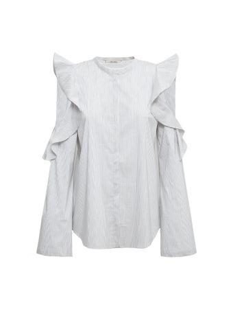 Dorothee Schumacher Sleeves Ruffle Cut-out Shirt