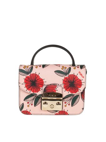 Furla Metropolis Mini Leather Multicolor Reason Poppy