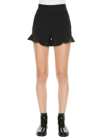 Red Valentino Shorts With Frills
