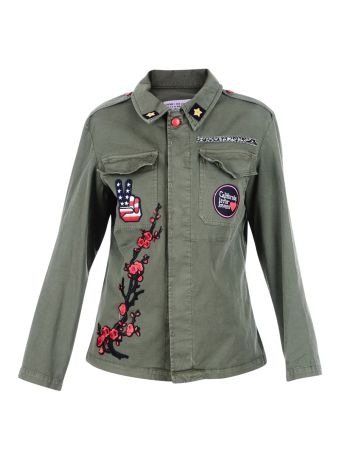 Military Green Embroidered Jacket