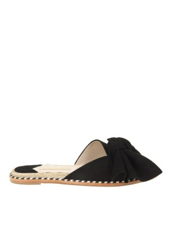 Paloma Barcelo' Sandals Flat Monte Carlo Suede Black
