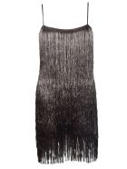 Rachel Zoe Della Fringe Metallic Dress