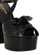 Saint Laurent Candy Bow Platform Sandals