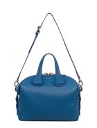 Indigo Small Nightingale Hammered Leather Top Handle Bag