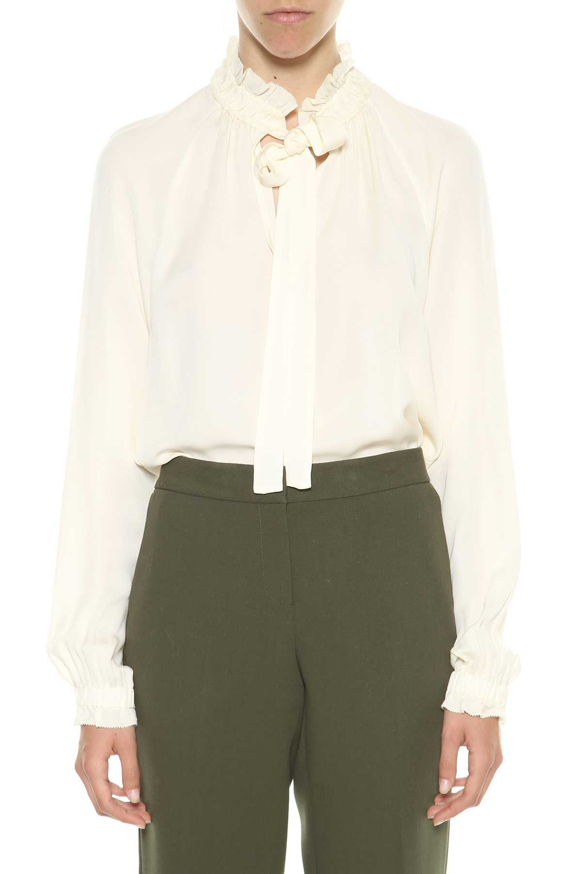 Michael Michael Kors Silk Blouse With Tie Neck
