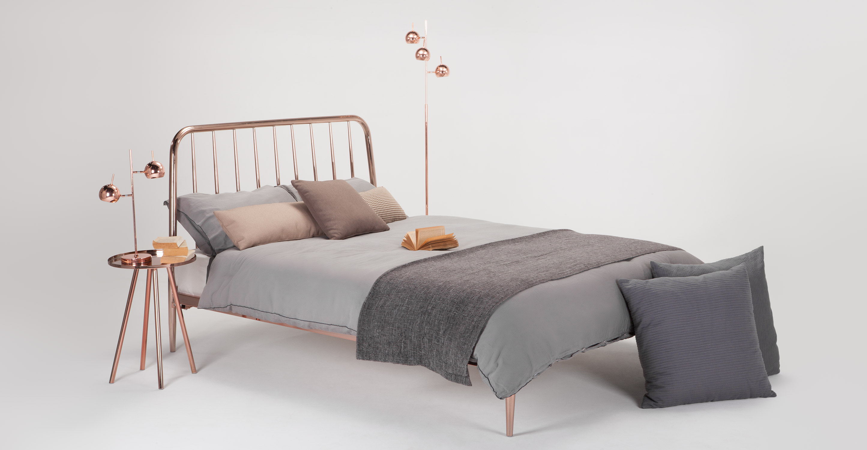 Alana bedside table copper - Pictures of bed side ...