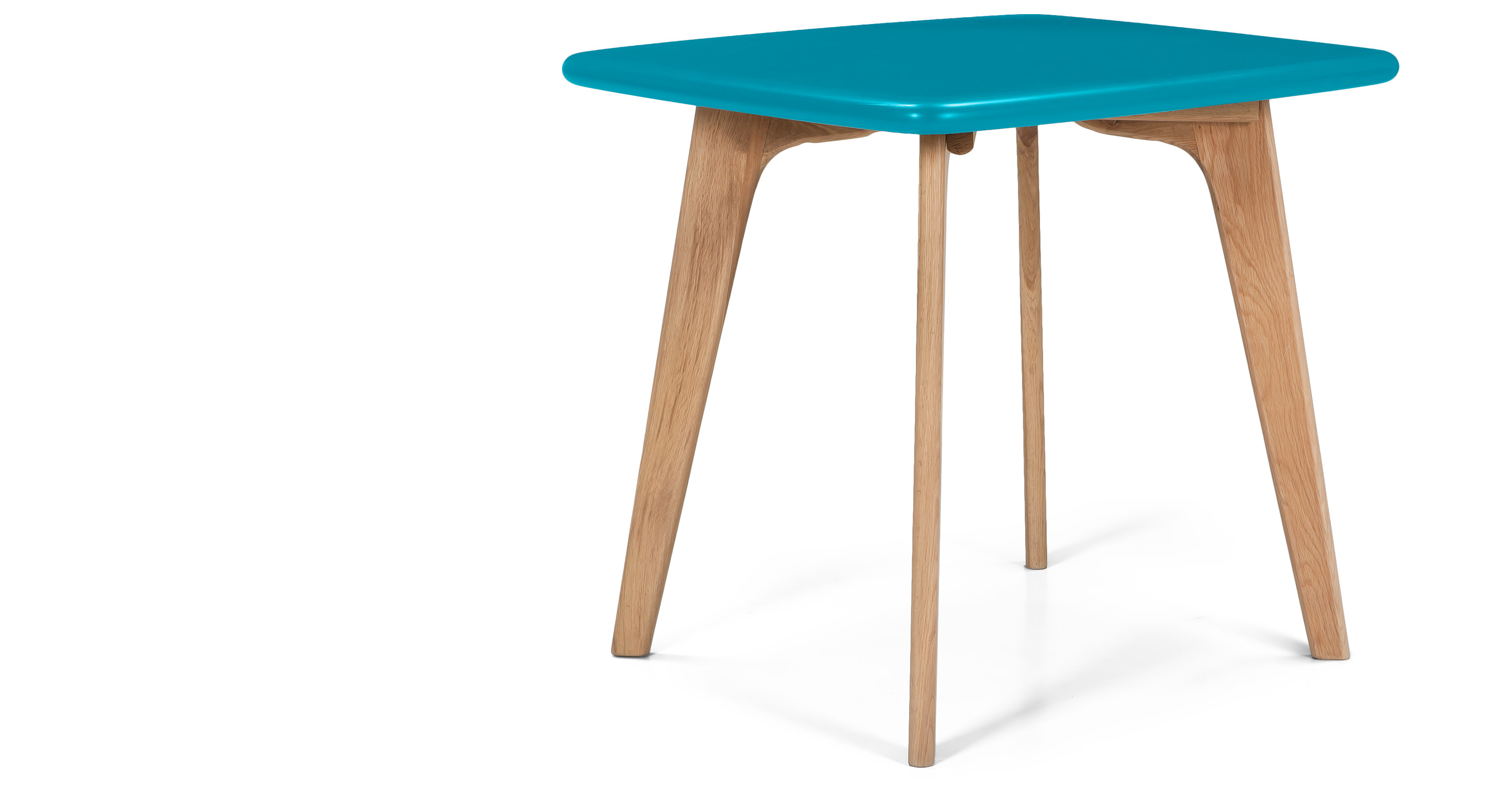 Fjord Square Dining Table Oak And Jay Blue