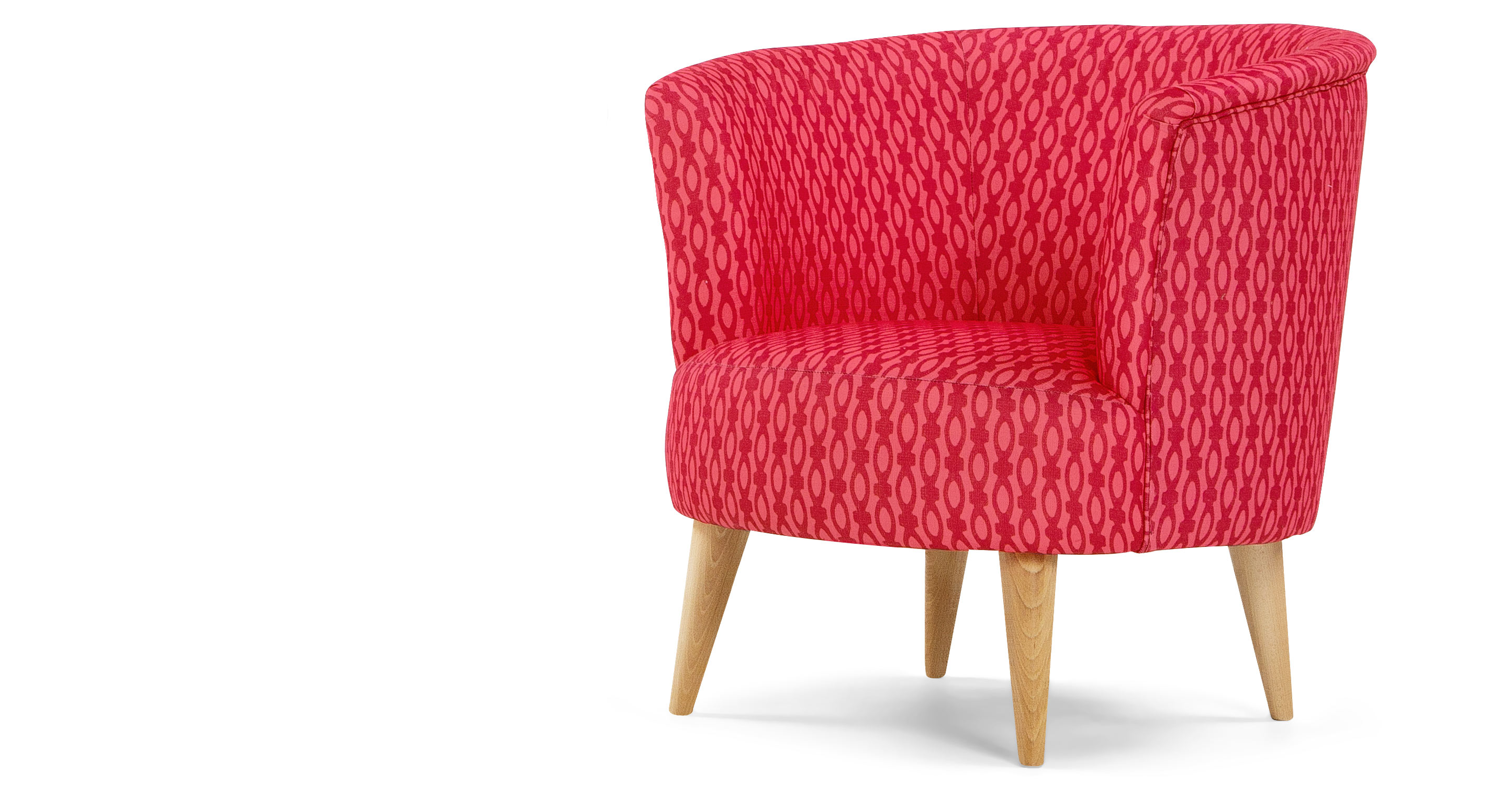 lulu un fauteuil d 39 appoint framboise et corail. Black Bedroom Furniture Sets. Home Design Ideas