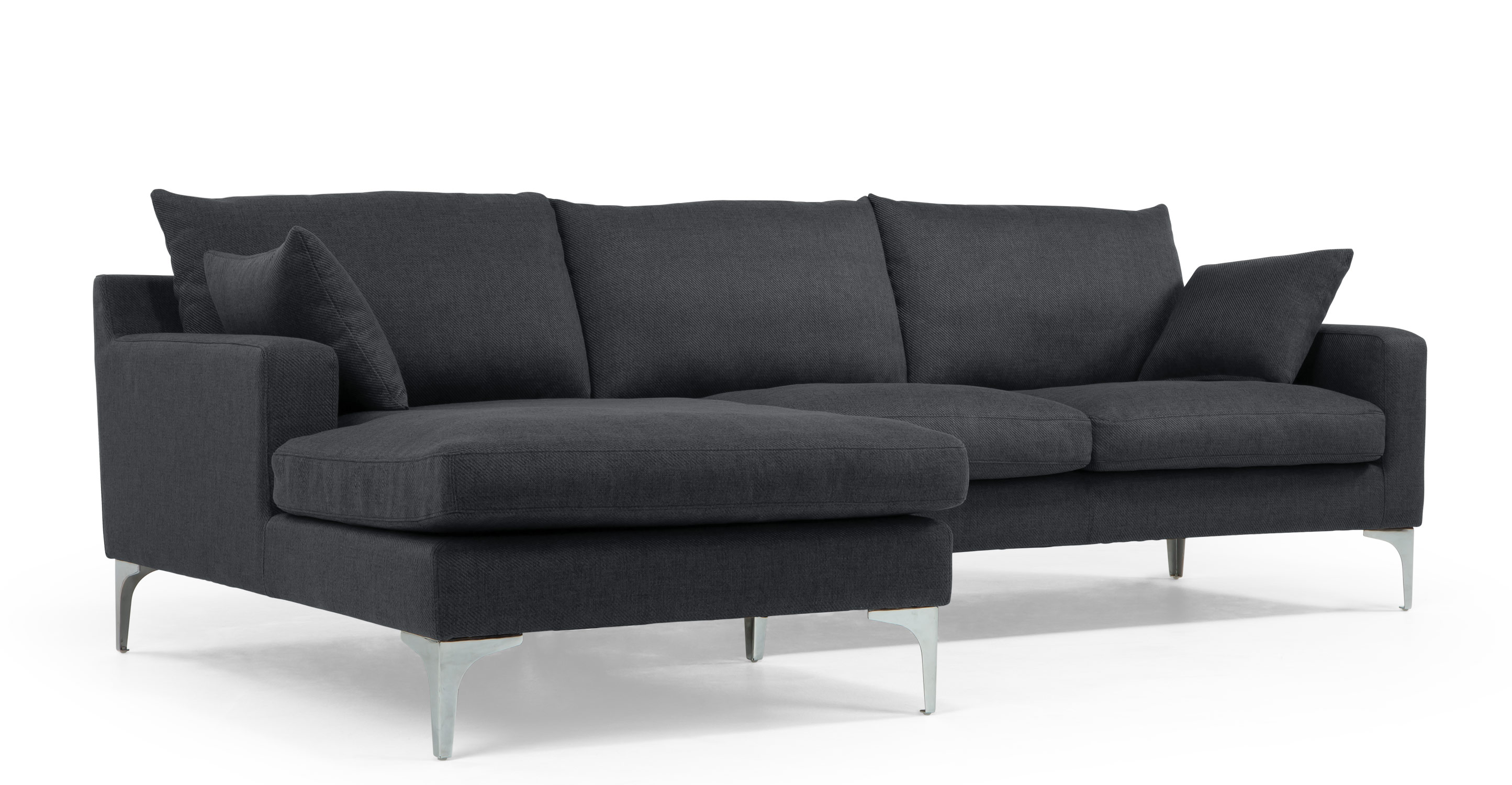 Mendini left hand facing corner sofa group in anthracite for Canape angle gauche