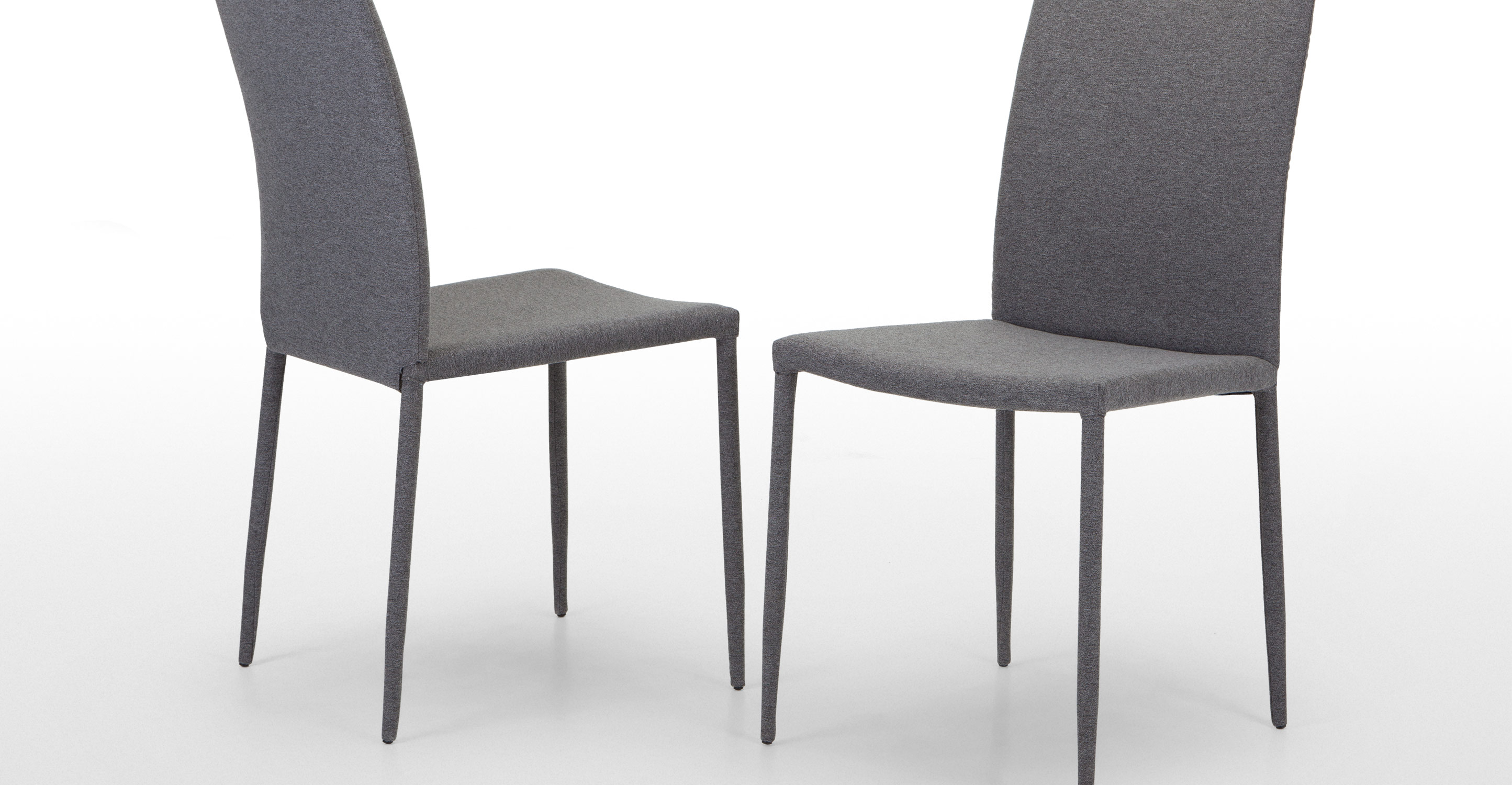 Pair Of Scarpa Dining Chairs In Light Grey