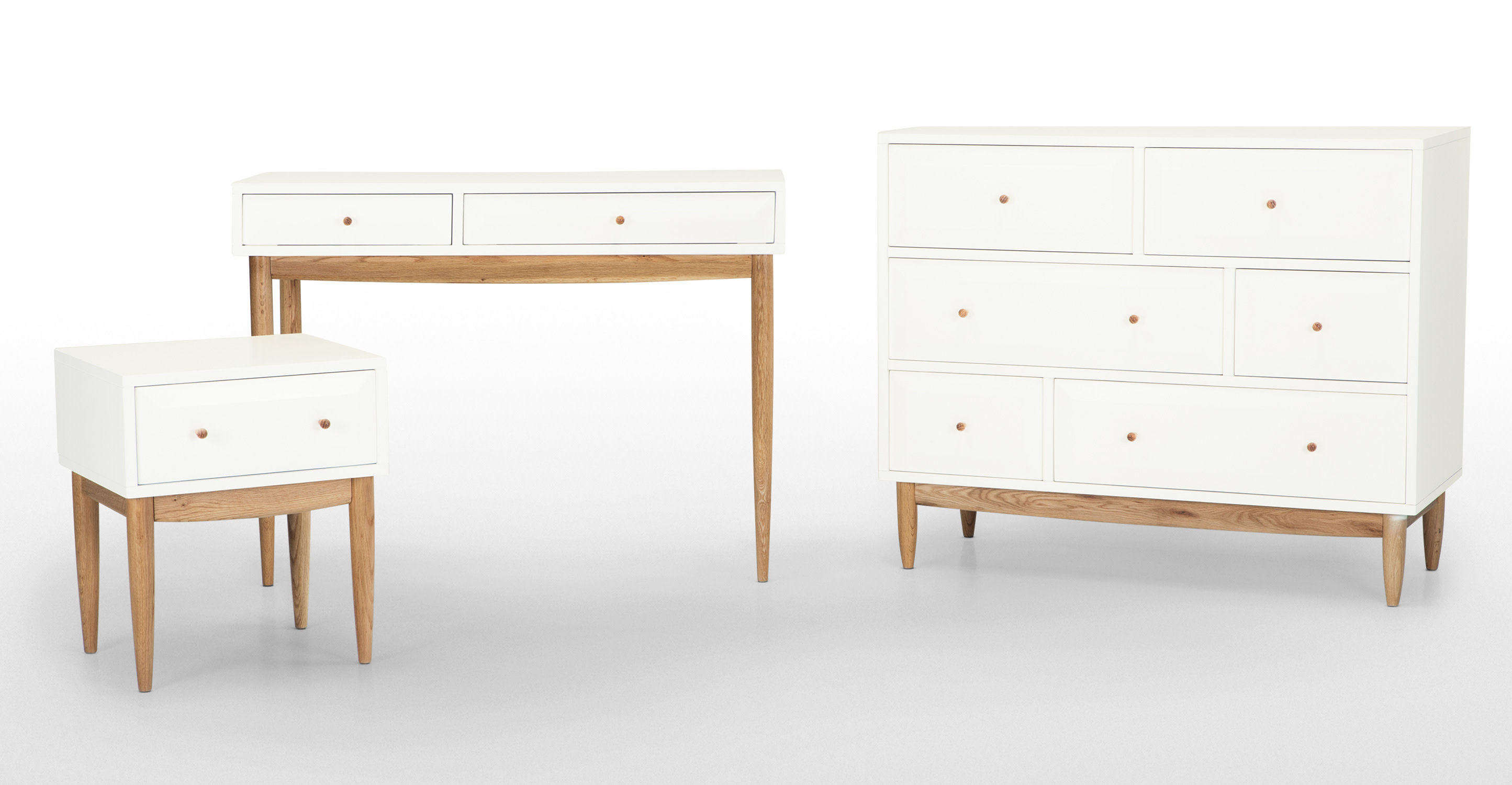 Willow dressing table oak and white for Made dressing table