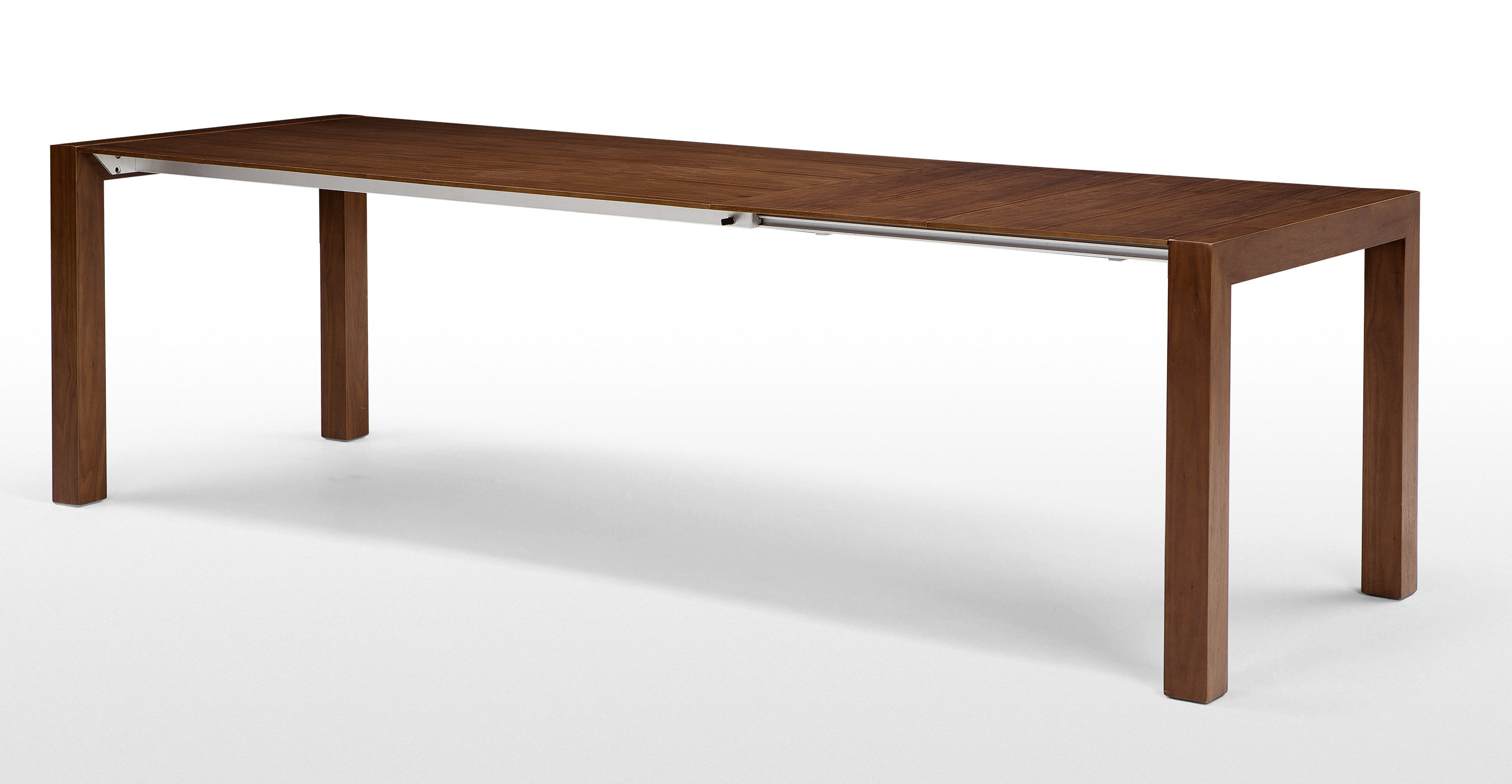 Bramante extending dining table walnut for Walnut dining table