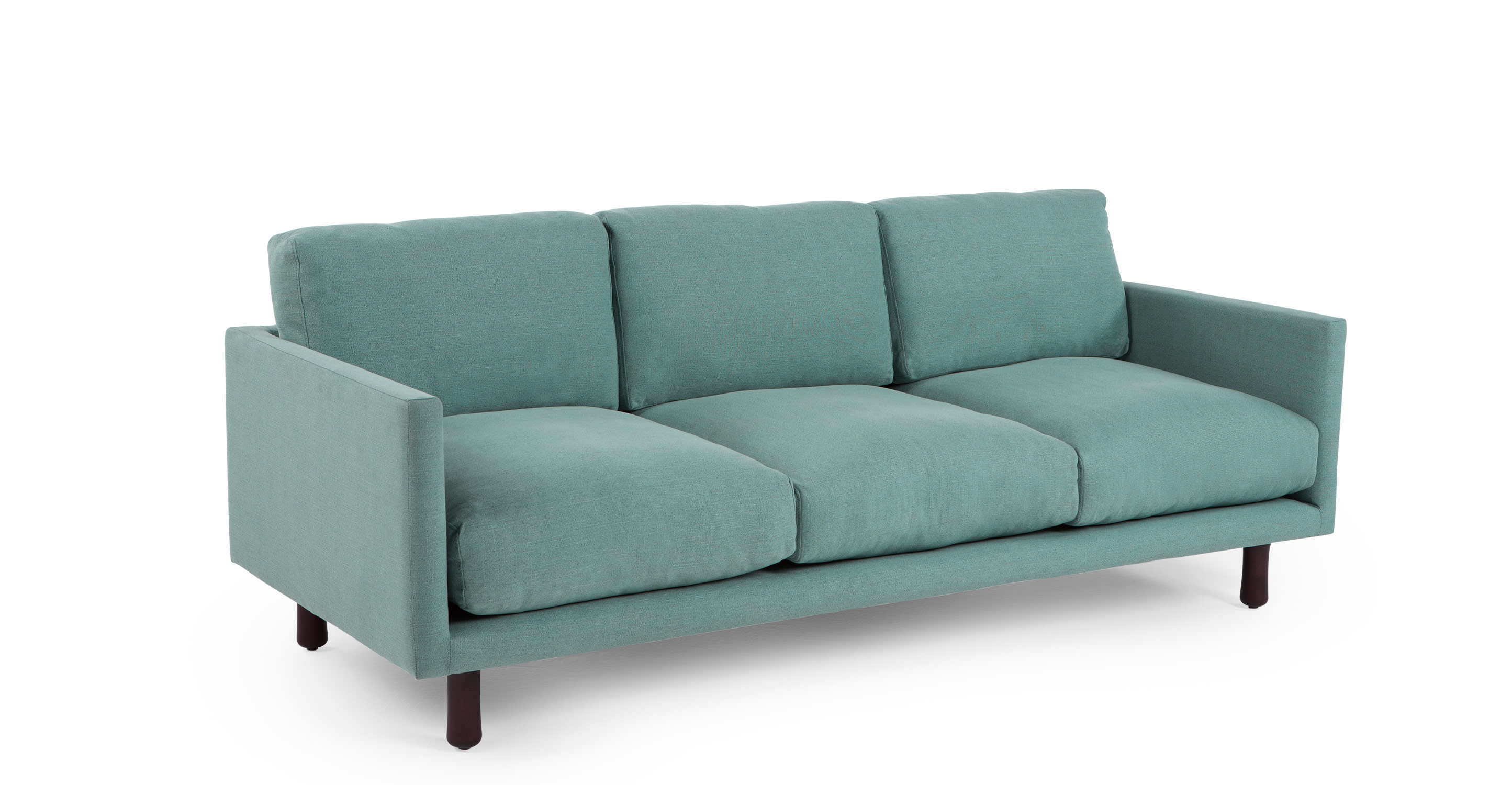carey 3 seater sofa turquoise linen. Black Bedroom Furniture Sets. Home Design Ideas