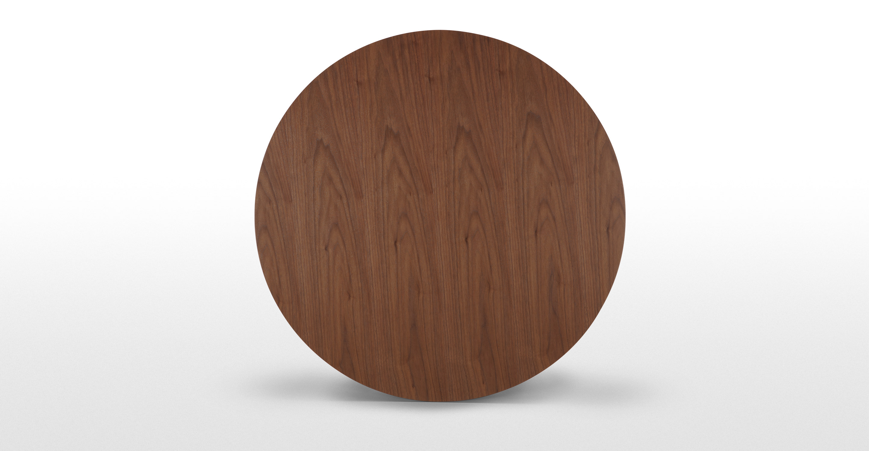 Edelweiss round dining table walnut and black for Acheter table ronde avec rallonge