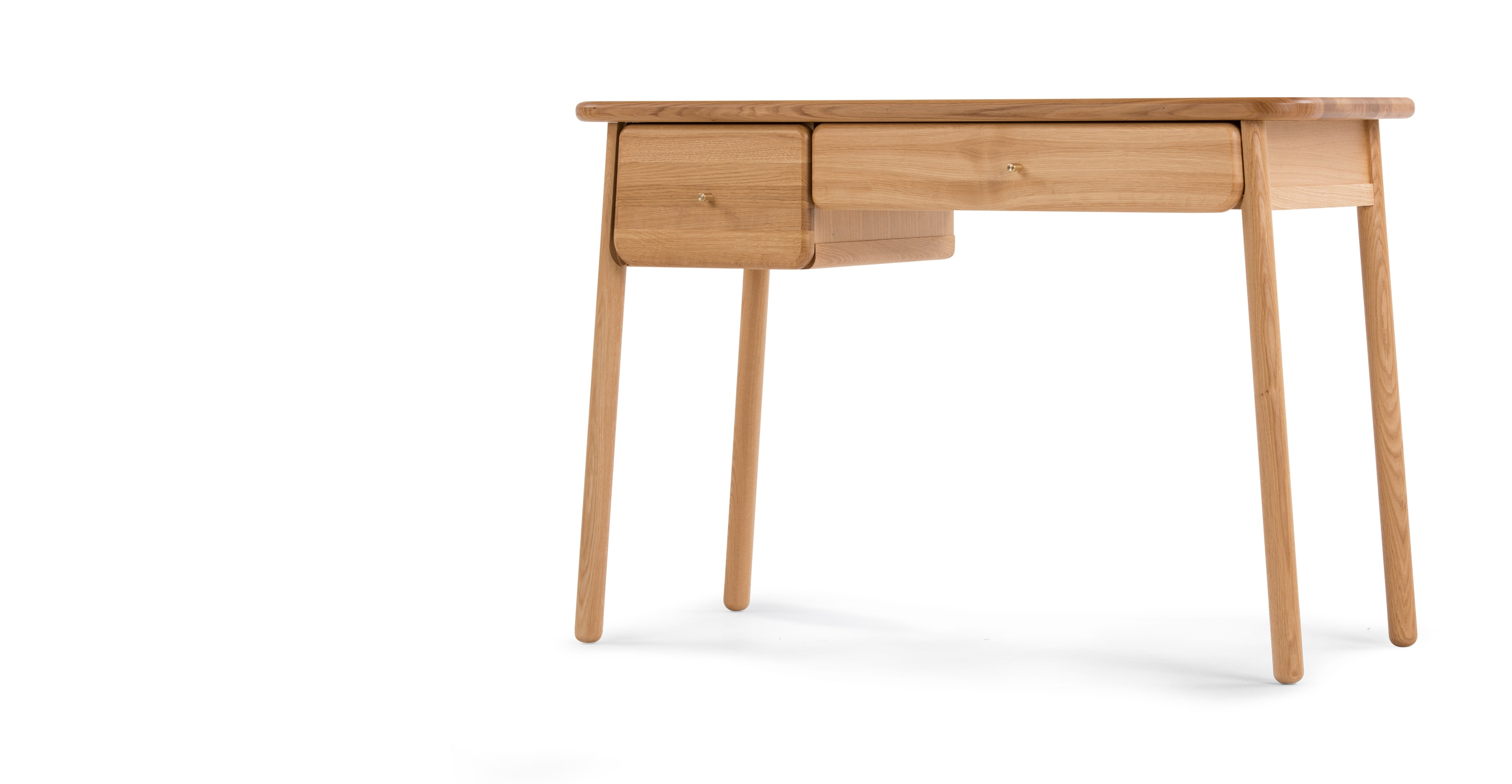 Jonah dressing table oak and brass for Made dressing table