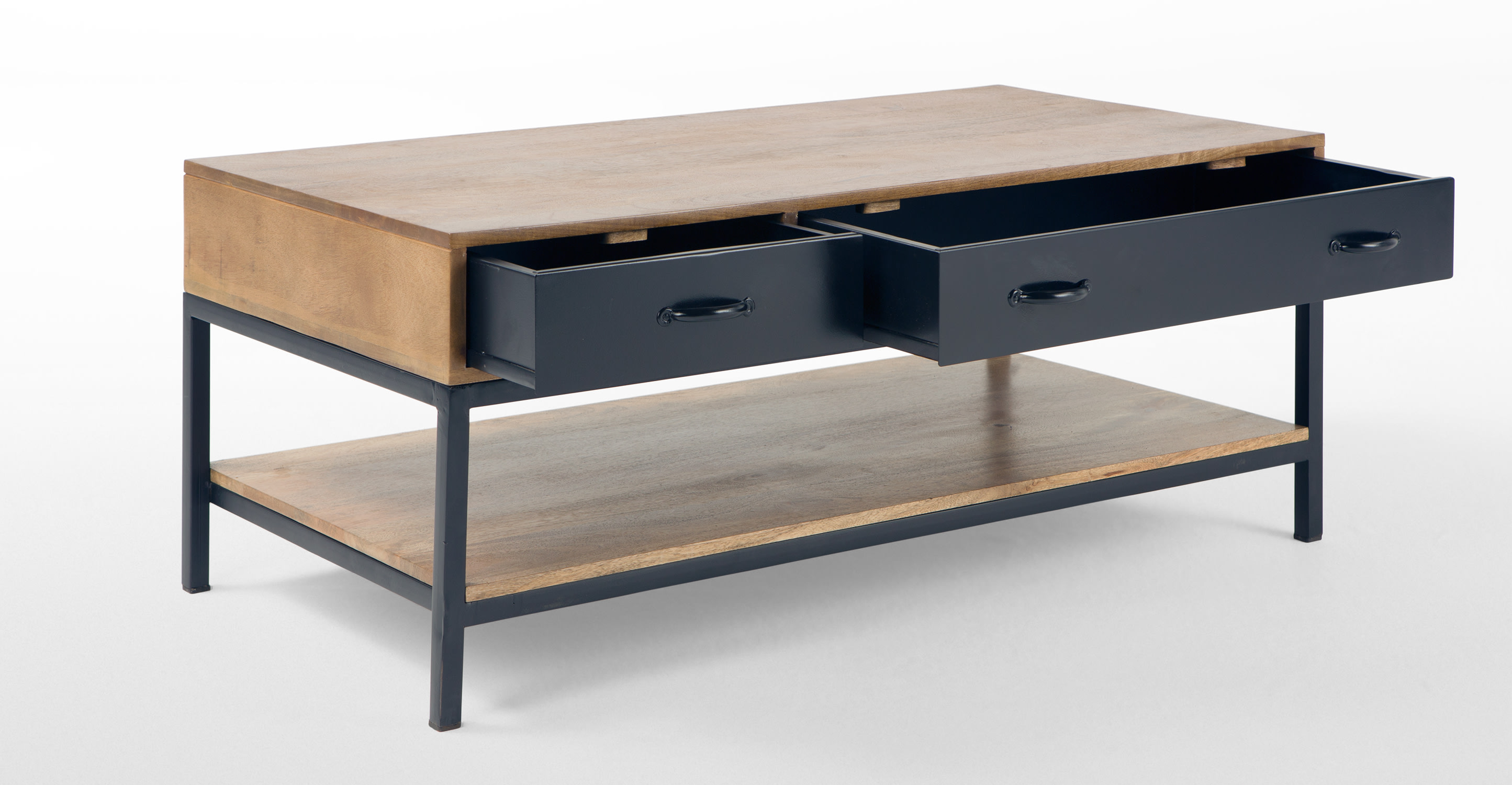 Lomond coffee table mango wood and black Black wooden coffee tables