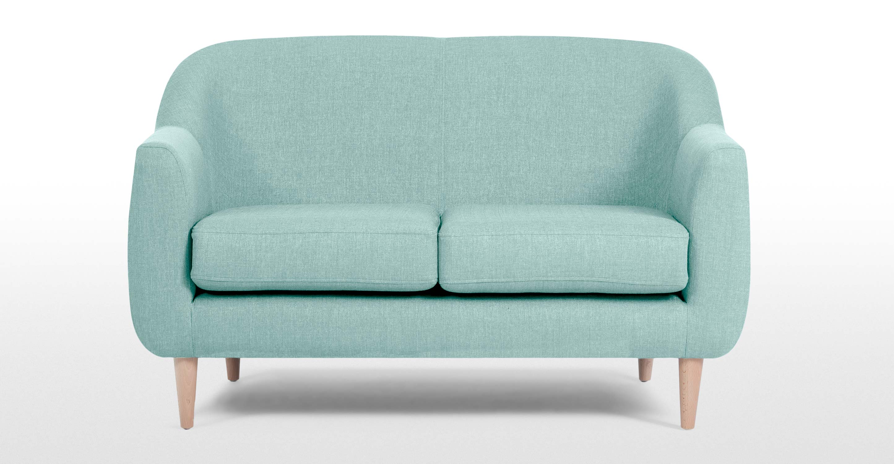 Tubby 2 Seater Sofa In Turquoise Blue